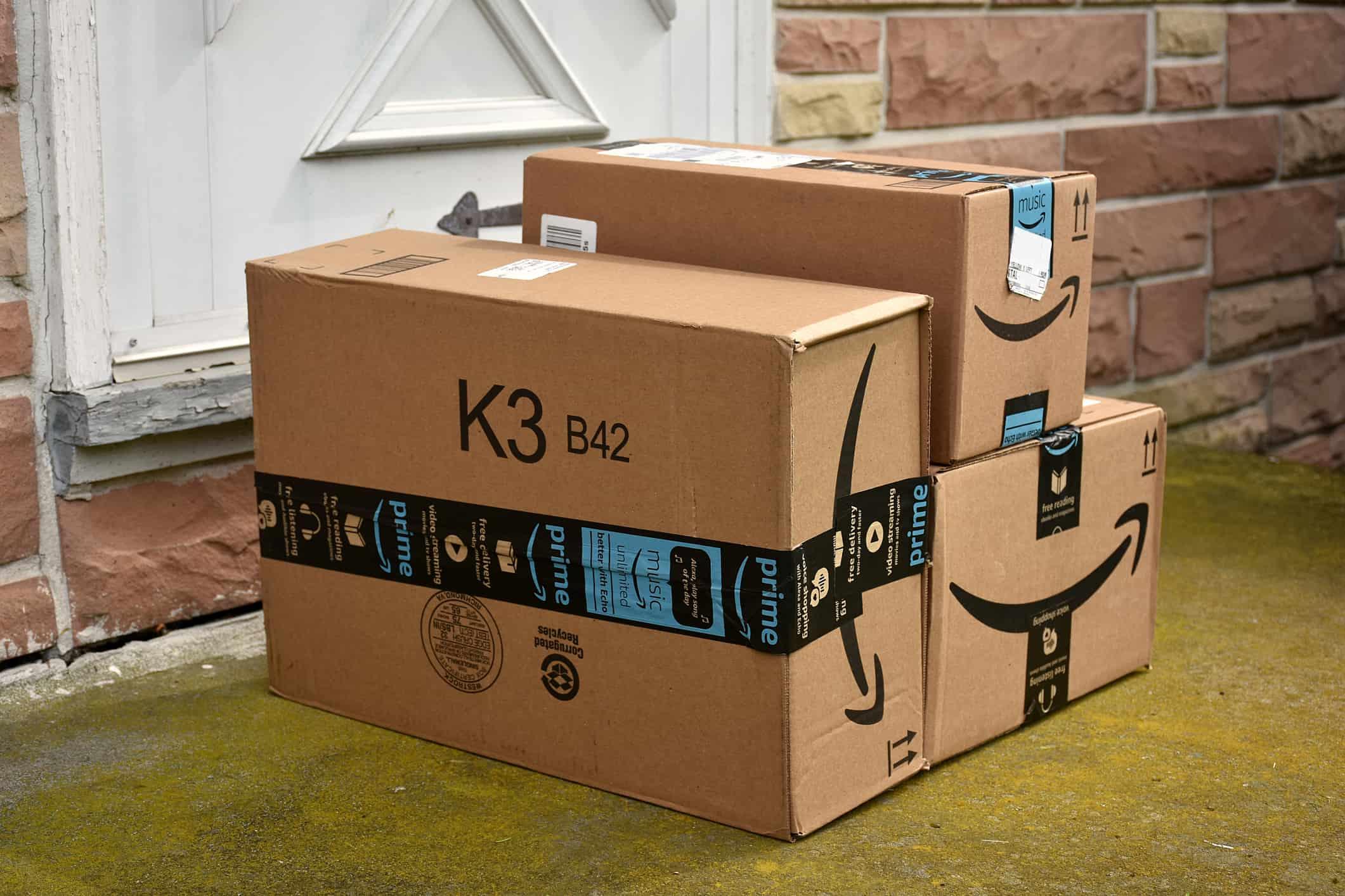amazon packages left on door step