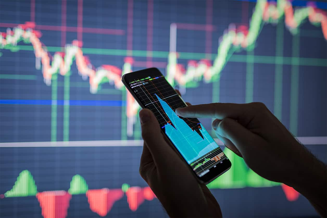 Checking Stock Market Data on Phone