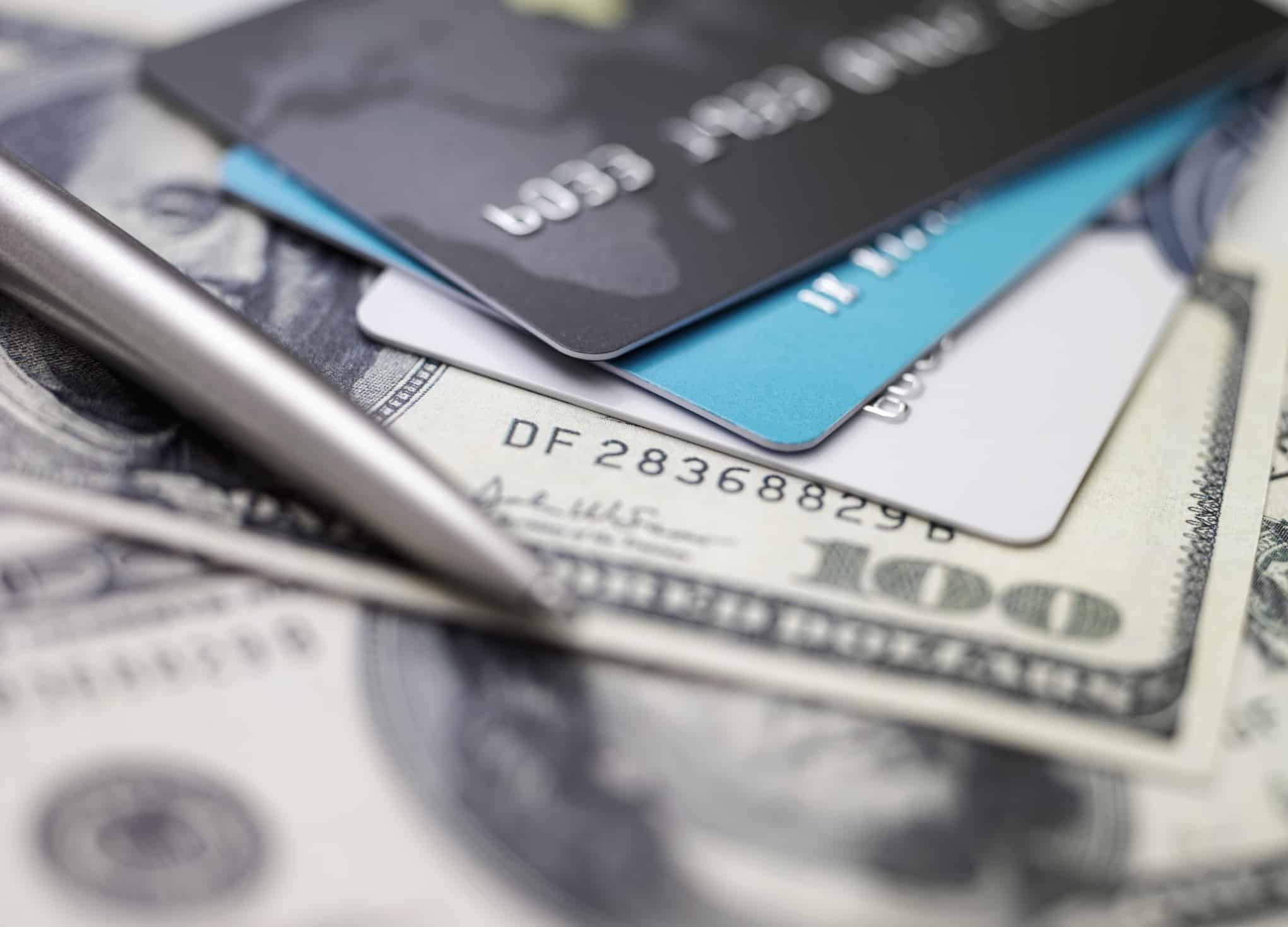 Picture of Credit Cards and Cash underneath